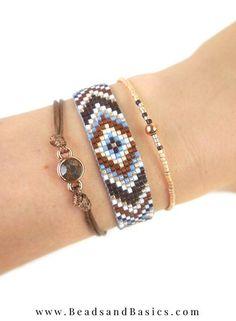 Zelf Een Miyuki Armband Maken Blauw Met Bruin - Leuk voor de zomer - boho ibiza style -  Beads & Basics | Online Kralen Kopen