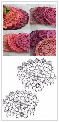 crochet pattern coaster pattern.