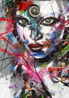 "Saatchi Online Artist yossi kotler; Mixed Media, ""the third eye"" #art"