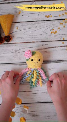 Easy Crochet pattern Baby Octopus Easy amigurumi crochet pattern Baby Octopus for kids. Easy Crochet pattern Baby Octopus Easy amigurumi crochet pattern Baby Octopus for kids. Octopus Crochet Pattern, Crochet Patterns Amigurumi, Crochet Dolls, Knitting Patterns, Cat Amigurumi, Crochet Gifts, Free Knitting, Octopus For Kids, Baby Octopus