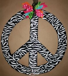 zebra peace sign