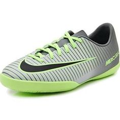 28297f1e2 Nike Junior Mercurial Vapor XI Indoor Soccer Shoe(Pure Platinum Black Ghost  Green) (6Y)