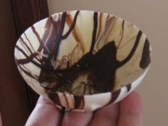 marbled chocolate bowls
