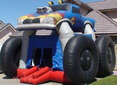 Monster truck bounce house rental in Las Vegas. We've got the biggest, baddest monster truck jumper in town. Rent your jumper from Jump Around Party Jumpers