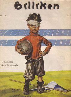 Revista Billiken. Revista infantil y de ayuda escolar,  nacio en el año 1.919.- En la imagen su 1º  tapa.