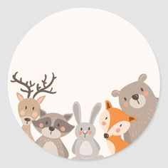 Shop Woodland baby shower favor tag Sticker Animals Fox created by Anietillustration. Woodland Creatures, Woodland Animals, Theme Noel, Woodland Baby, Baby Kind, Baby Room Decor, Baby Shower Favors, Favor Tags, Cute Drawings