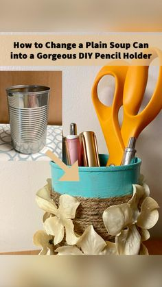Craft Organization, Craft Storage, Organizing, All You Need Is, Diy Makeup Brush, Kids Study, Dollar Tree Crafts, Upcycled Crafts, Jute Twine