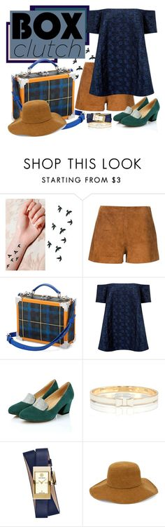 """""""tartan box clutch"""" by wanndan-jco ❤ liked on Polyvore featuring rag & bone, Être Cécile, Edit, Kate Spade, Tory Burch and Chico's"""