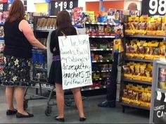 Parent Punishes Know It All Teenager in Walmart - Funny Pictures at Walmart