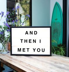 Designer plexiglass LED lightboxes by Bxxlght. A product of scandinavian design. Customizable quote light boxes.