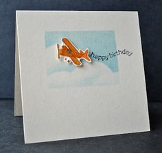 Stampin' Up ideas and supplies from Vicky at Crafting Clare's Paper Moments: Happiest Birthday Wishes in the sky