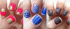 cute print nails.