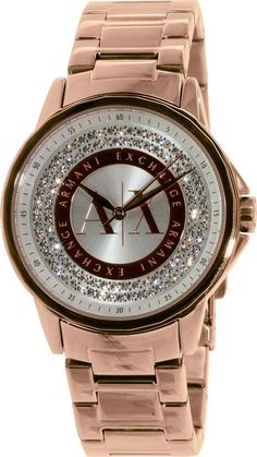 Armani Exchange Women's AX4322 'Classic' Rose-Tone Stainless steel Watch