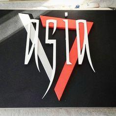 Seven Group - Insegna Ristorante Asia.  #realizzazione #montaggio #insegna #logo #logotype #dibond #intagliato #vernice #forex #intaglio #insegne #signs #sign #adigital #pesaro