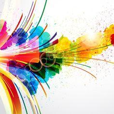 Free Vector Colorful Splash