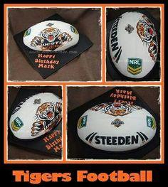 Tigers Football cake #cake #birthday #muddacake