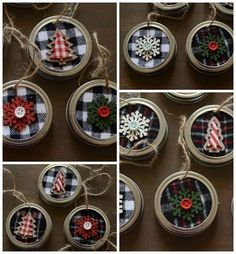 """43 Graceful Diy Mason Jar Crafts Ideas - Mason jar gifts, or what some people call """"gifts in a jar,"""" are anything you can imagine being made with a mason jar. And we're not just talking Chris. Diy Christmas Ornaments, Rustic Christmas, Christmas Projects, Holiday Crafts, Christmas Decorations, Christmas Ideas, Mason Jar Christmas Crafts, Plaid Christmas, Spring Crafts"""