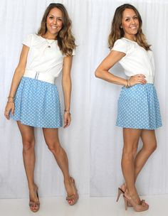 J's Everyday Fashion: Today's Everyday Fashion: Polka Dot Denim