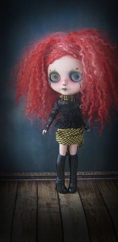 Blythe Doll Voodoo by Pink Anemone, via Flickr