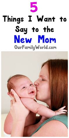 """When it comes to giving parenting tips for newborns, the best thing you can say is """"I understand."""" Check out 5 things to say to a new mom!"""