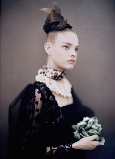 """Like A Painting""  Natalia Vodianova by Paolo Roversi. Vogue Italia Sept 2006 Supplement"