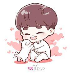 Kyungsoo with candy :3 #Too cute!!!!!!!