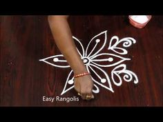 3 dots small daily Kolam designs for beginners / easy rangoli designs - YouTube
