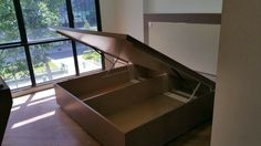 Platform storage bed by xing heng