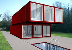 Container House - KIT HOME: Ingenious conversions of industrial shipping containers into inhabitable modern spaces. - Who Else Wants Simple Step-By-Step Plans To Design And Build A Container Home From Scratch? Container Home Designs, Storage Container Homes, Cargo Container, Container Cabin, Container Architecture, Container Buildings, Sustainable Architecture, Modular Housing, Modular Homes