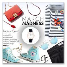 """March Madness with Franco Florenzi www.francoflorenzi.com"" by dressedbyrose ❤ liked on Polyvore featuring Converse, MANGO, Mary Katrantzou, Emi Jewellery and Christian Dior"