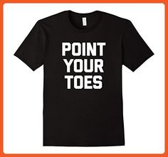 Mens Funny Dance Shirt: Point Your Toes T-Shirt funny dancer tee 2XL Black - Funny shirts (*Partner-Link)