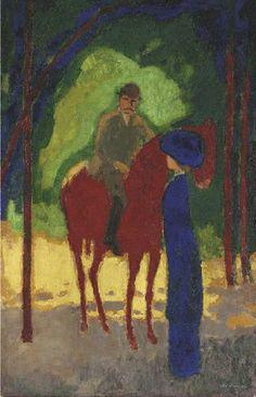 Au Bois de Boulogne, Cornelis Theodorus Maria van Dongen (aka Kees van Dongen or Van Dongen 1877~1968)