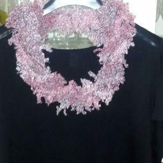 Sciarpa scaldacollo collana donna handmade scarf regalo