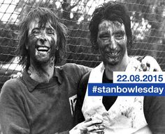 Muddy Marvels Stanley Bowles and the late great Dave Clement celebrate their England call up for 1976 England World Cup qualifier in Italy Queens Park Rangers Fc, Stan Love, World Cup Qualifiers, Sideburns, Marvel, England International, Celebrities, Kettles, Training
