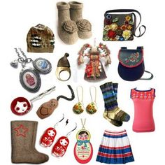 Russia... I would wear all of this!! Except maybe those flower boots :p