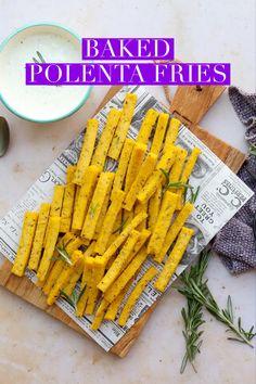 Quick Recipes, Side Dish Recipes, Dinner Recipes, Fall Recipes, Side Dishes, Polenta Frita, Baked Polenta, A Food, Good Food