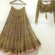 Book ur dress now Completely stitched outfits Customised in all colours like comment share tags For booking ur dress plz dm or whatsapp at 91 7838855066 Punjabi Fashion, Indian Fashion, Indian Dresses, Indian Outfits, Indian Clothes, Lehenga Choli Wedding, Gold Lehenga, Lengha Blouse Designs, Indian Designer Outfits