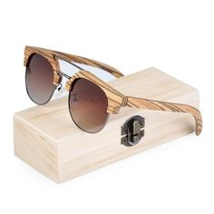 c51875c59ac3 WoodWatchBox.com WOOD SUNGLASSES Default Title BOBO BIRD G15 Polarized  Retro Vintage Zebrawood Sunglasses for