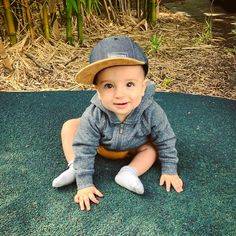 """I had to contact the store as there was a glitch in our checkout, their reply was quick and the problem was fixed there and then! The Snapback (small) fits our 8 month old with plenty of room to tighten and loosen and ohhhh my goodness ..."" - Lauren M."