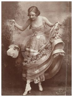 Irene Castle costumed by Lucile for  Irving Berlin's 1914 musical Watch Your Step.