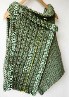Poncho Au Crochet, Free Crochet, Knit Crochet, Chain Stitch, Crochet Clothes, Crochet Projects, Crochet Patterns, Knitting Needles, Wintry Weather