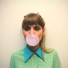 bubble gum gal portrait