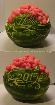What a beautiful watermelon carving. Could be for any occasion. What a beautiful watermelon carving. Could be for any occasion. Graduation Food, Graduation Open Houses, Graduation Celebration, Graduation Decorations, High School Graduation, Graduate School, Watermelon Carving Easy, Watermelon Bowl, Food Network