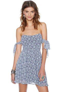 For Love and Lemons Kiss Me Dress - Blue Floral   Shop Dresses at Nasty Gal