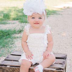 2cc73b0cd 9 Best Baby lace romper images