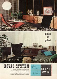 royal system was a danish brand of modular wall units designed by interior architect poul cadovius from through the the ads below were published