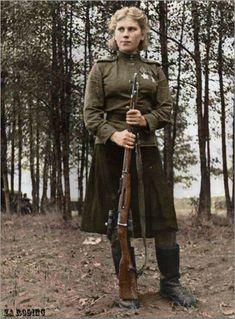 Russian Women Soldiers | russian soldier 10 Russische Armee | Koloriert WW2