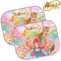 details about winx club kids baby children car window sun shades uv blinds mesh visor 2 pack