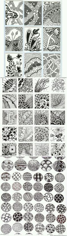Zentangle Patterns & Ideas - I thought they were just doodles.but I guess its a zentangle pattern. Doodles Zentangles, Tangle Doodle, Zentangle Drawings, Zentangle Patterns, Doodle Drawings, Doodle Art, Nursery Drawings, Zen Doodle Patterns, Heart Patterns