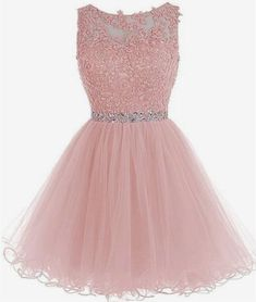 Find Short Homecoming Dresses Lace Open Back Cocktail Party Dress Tulle Prom Dress Appliques online. Shop the latest collection of Short Homecoming Dresses Lace Open Back Cocktail Party Dress Tulle Prom Dress Appliques from the popular stores - all in one Dama Dresses, Pink Formal Dresses, Hoco Dresses, Prom Party Dresses, Homecoming Dresses, Evening Dresses, Party Gowns, Elegant Dresses, Sexy Dresses